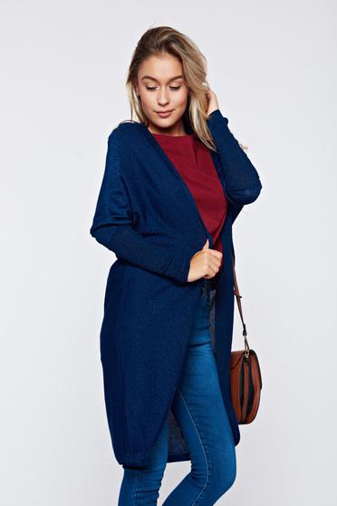 Top Secret easy cut darkblue casual knitted sweater
