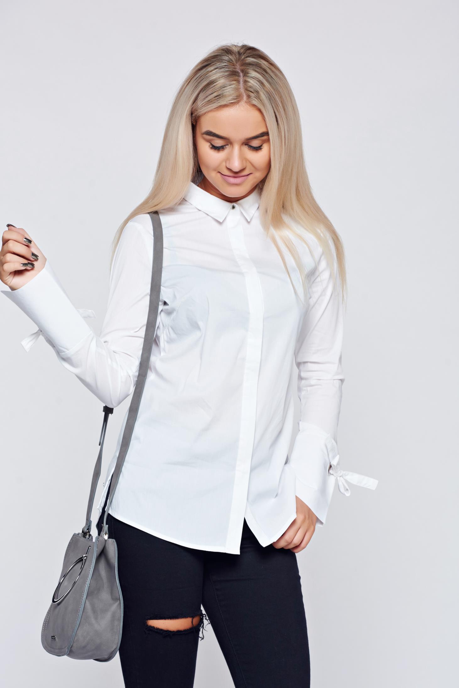 8d8c62dd33 Fehér Top Secret női ing bő szabású hosszú ujjú