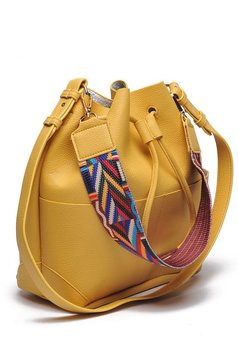 Top Secret casual yellow bag with laced details