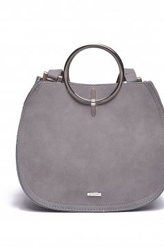 Top Secret casual grey bag with metalic accessory