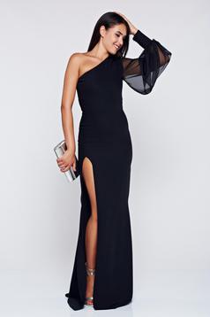Ana Radu black occasional one shoulder pencil dress