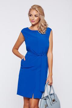 Top Secret blue office sleeveless dress with inside lining