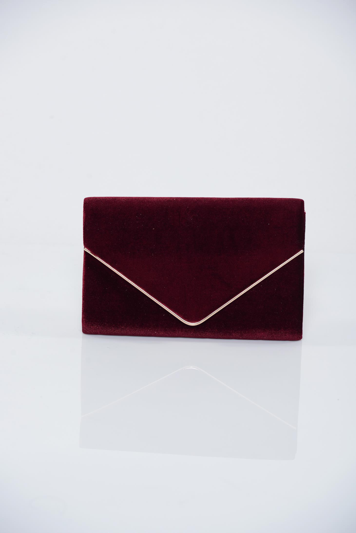 details for new & pre-owned designer purchase newest Burgundy clutch bag accessorized with chain