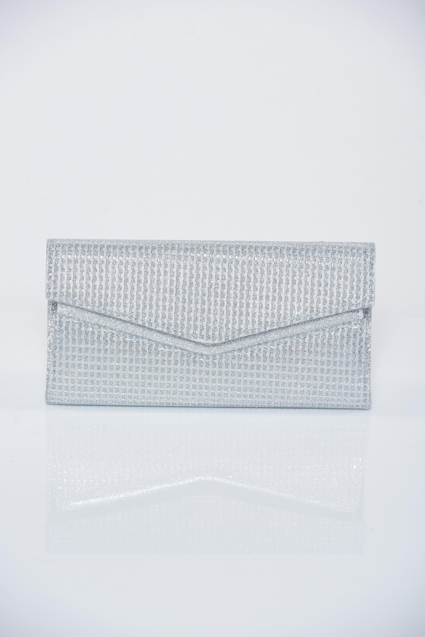 31f0e0db53 Ezüst alkalmi táska csillogó díszítésekkel