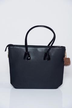 Black office bag medium handles