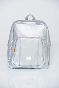 Silver metallic aspect backpacks