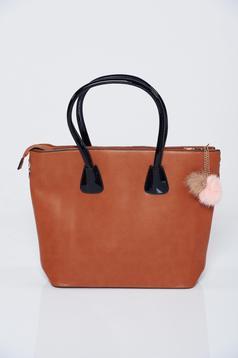 Brown office bag with medium handles