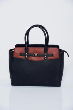 Black office bag with long adjustable handle