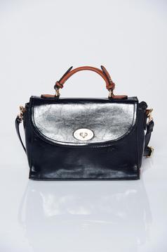 Black office bag long, adjustable handle