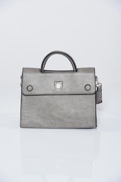 Grey office bag metalic accessory