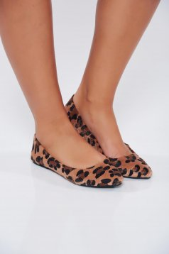 Top Secret lightbrown casual light sole shoes animal print design