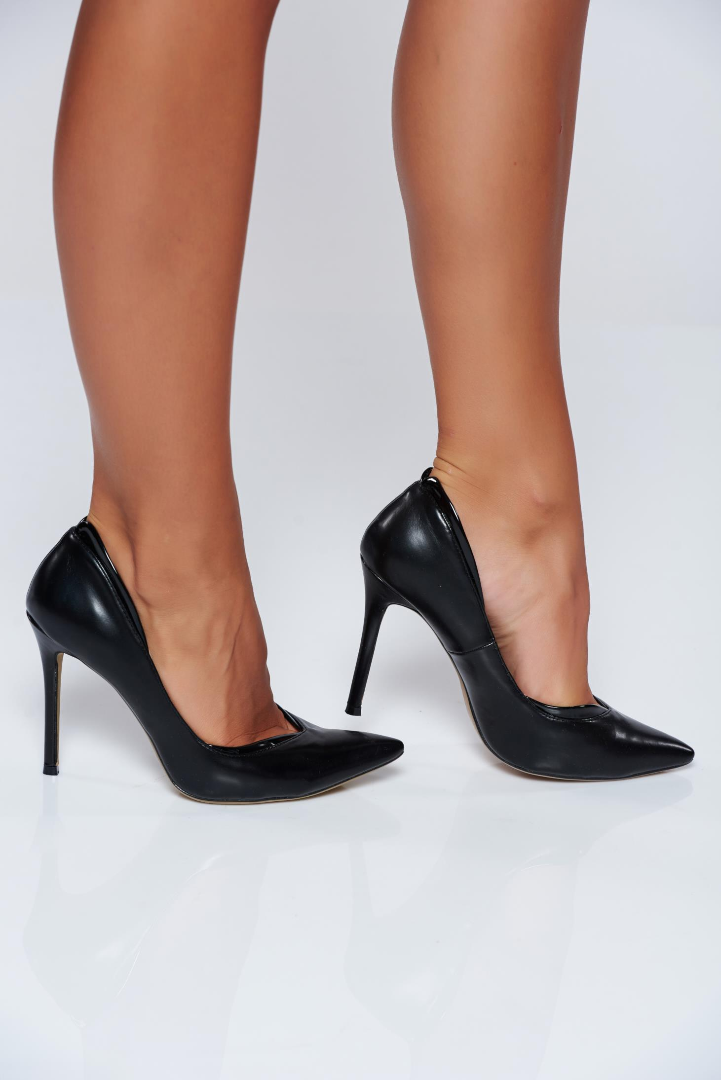 Office high heels black stiletto