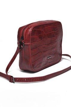 Top Secret burgundy casual ecological leather bag