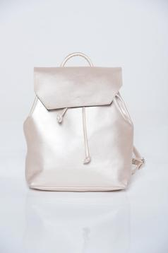 Top Secret nude backpacks with ribbon fastening and a compartment with internal pockets