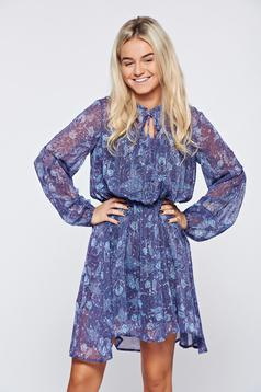 Top Secret lila flared veil dress with long sleeves