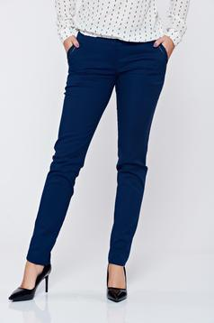LaDonna conical darkblue office trousers with pockets