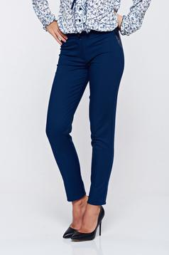 LaDonna darkblue office cotton conical trousers