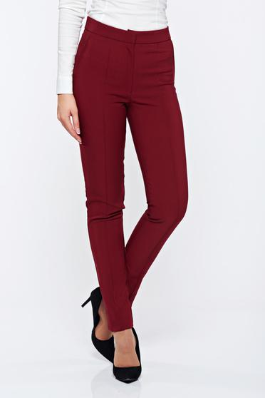 LaDonna burgundy office conical trousers with pockets