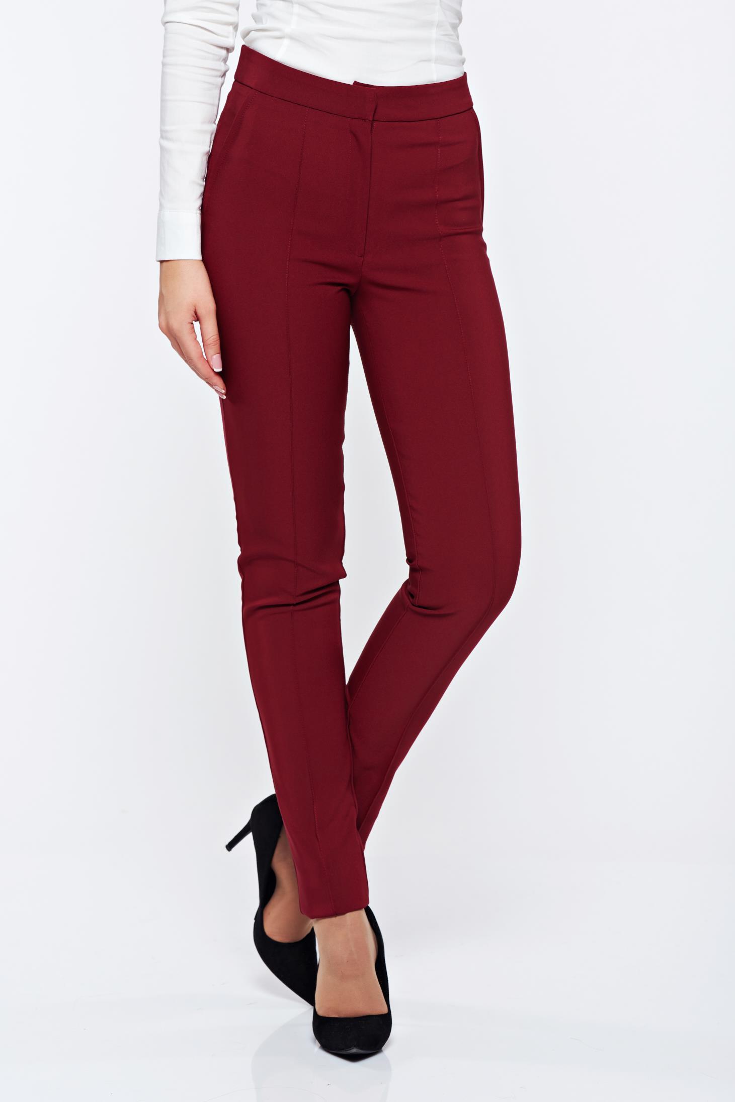 Pantaloni LaDonna visinii office conici cu buzunare
