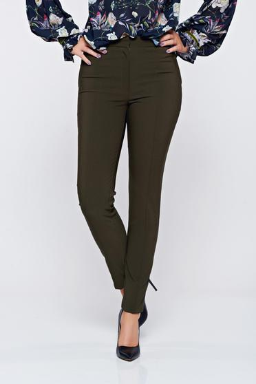 LaDonna darkgreen office conical trousers with pockets
