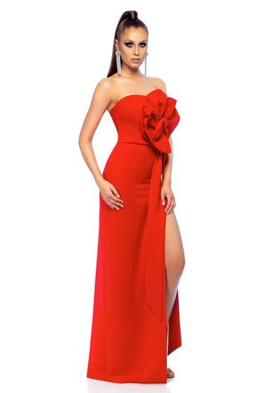 Ana Radu elegant red long sleeveless dress