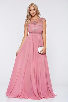 Occasional rosa embroidered veil dress