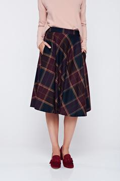 LaDonna burgundy skirt office cloche cotton