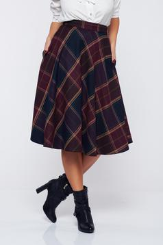 LaDonna cloche burgundy office cotton skirt