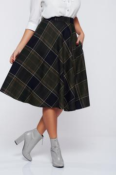 LaDonna cloche darkgreen office cotton skirt