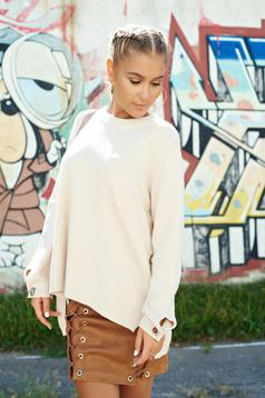 Nude casual easy cut knitted sweater