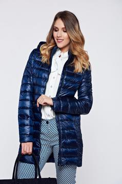 Top Secret darkblue casual slicker jacket with zipped sleeves