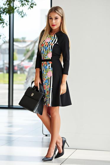 StarShinerS black dress office cloche slightly elastic fabric