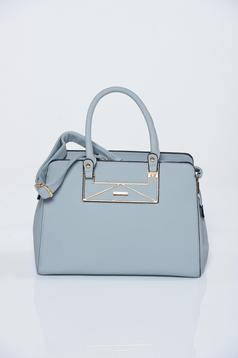 Grey office bag with medium handles