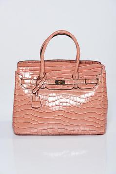 Orange bag casual lacquer fabric metalic accessory