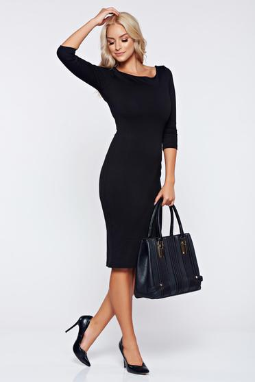 StarShinerS daily pencil black dress with cut back