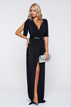 Artista occasional black wrap around dress with a cleavage