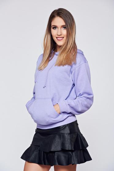 Top Secret cotton purple casual coat