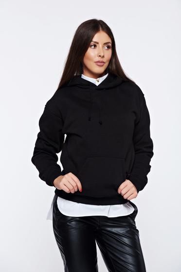 Top Secret cotton black casual hoodie