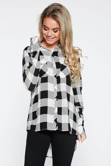Top Secret black women`s shirt casual with easy cut with front pockets