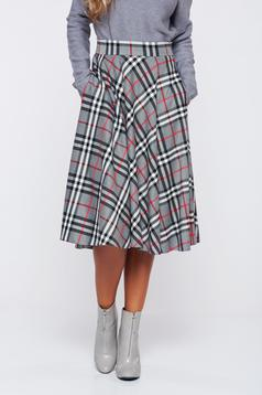 LaDonna cloche office grey skirt plaid fabric