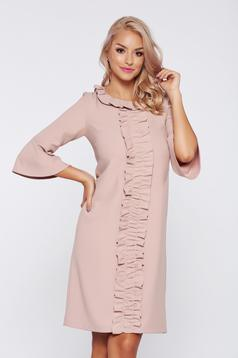 LaDonna office rosa bell sleeve dress with ruffle details