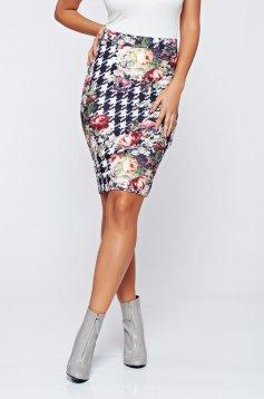 LaDonna red skirt office pencil with medium waist