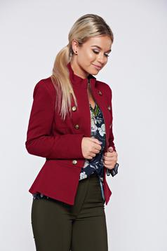 Jacket LaDonna burgundy office with inside lining accessorized with buttons