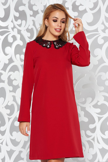 StarShinerS easy cut red elegant daily dress