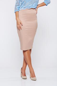 StarShinerS high waisted cream office pencil skirt