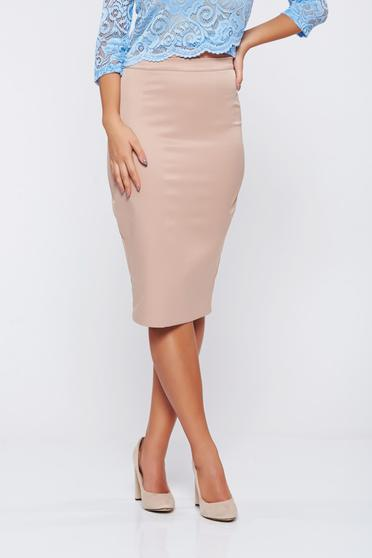 StarShinerS high waisted cream office pencil skirt