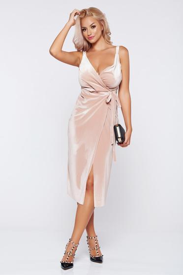 Occasional rosa wrap around velvet dress