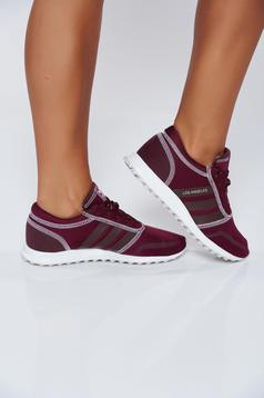 Originals Adidas burgundy casual sneakers with lace and light sole