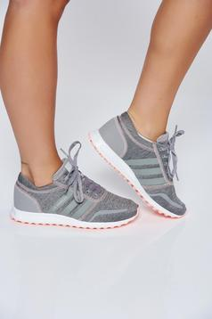 Originals Adidas grey casual sneakers with lace and light sole
