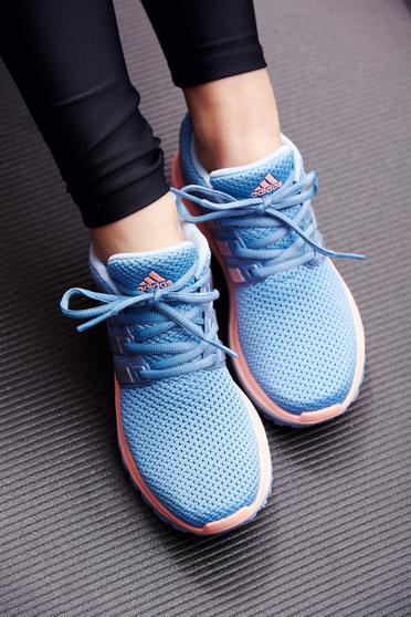 Adidas blue casual sneakers with lace light sole